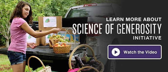 Learn more about Science of Generosity Initiative
